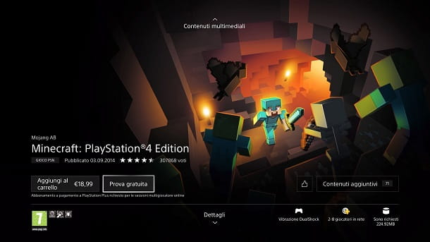 Prova gratuita Minecraft PS4