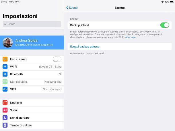 Backup iPad