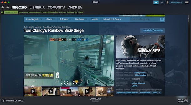 Scaricare Rainbow Six Siege da Steam