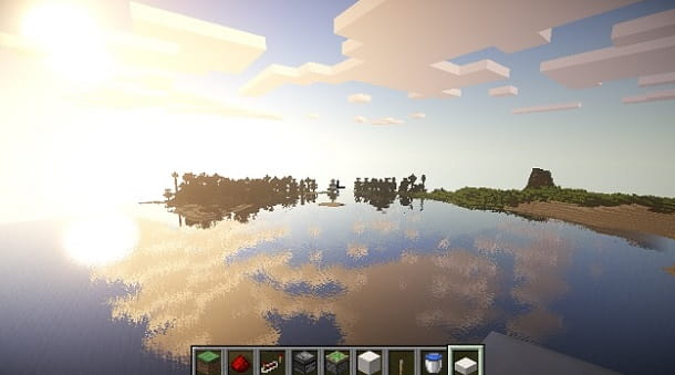 Riflessi shader Minecraft