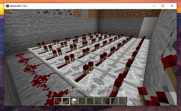 Ripetitori di redstone Minecraft