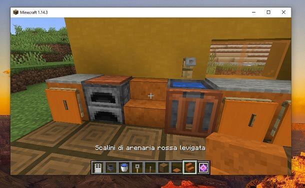 Scalini di arenaria rossa levigata Minecraft