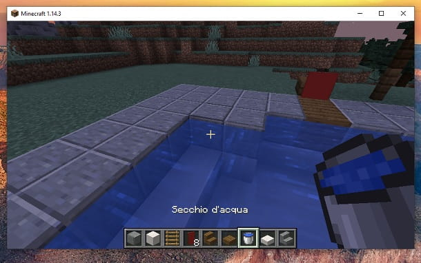 Secchio acqua Minecraft