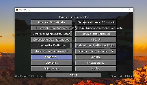 Shaders minecraft