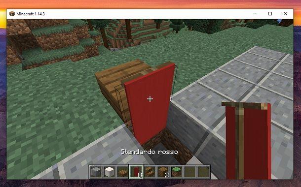 Stendardo rosso Minecraft