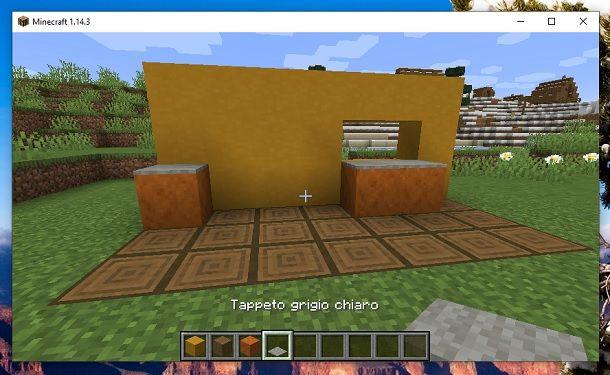 Tappeto grigio chiaro Minecraft