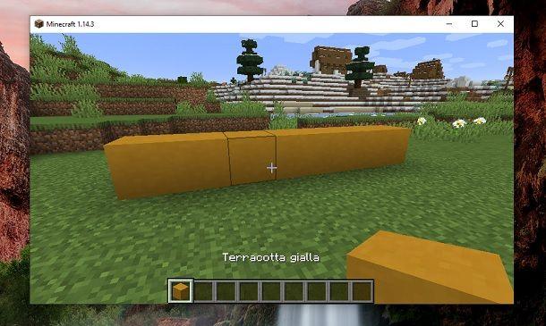 Terracotta gialla Minecraft