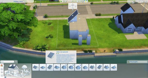 Tetto a uno spiovente The Sims 4