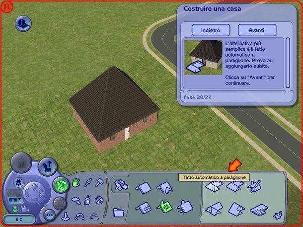 Tetto automatico a padiglione The Sims 2