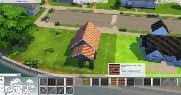 Tetto composito mosaico della natura The Sims 4