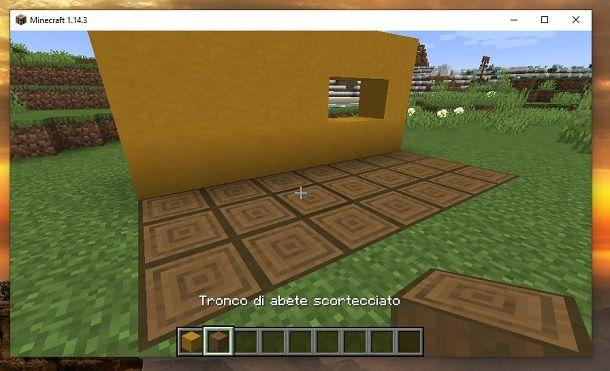 Tronco di abete scortecciato Minecraft