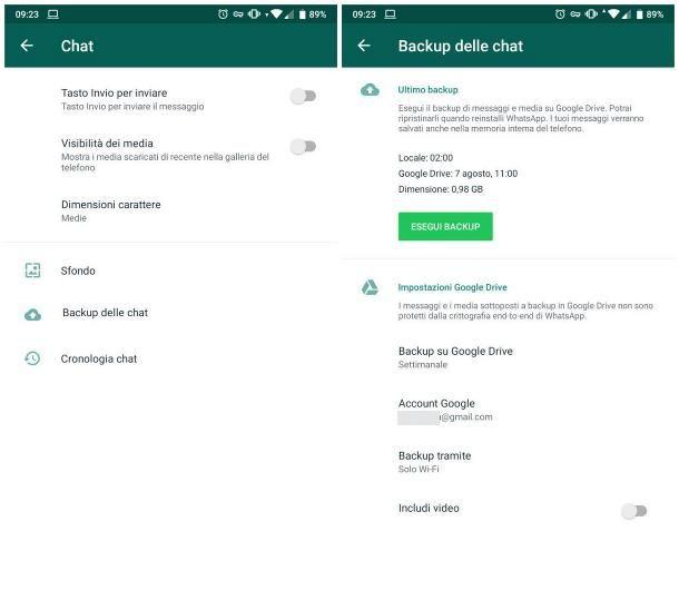 Come vedere i messaggi eliminati su WhatsApp per Android - Ripristinare backup