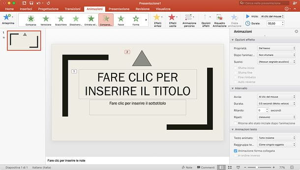 Animare un PowerPoint