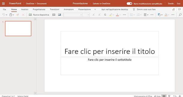 Strumenti per creare PowerPoint online