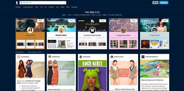 Siti dove scaricare contenuti personalizzati di The Sims 4