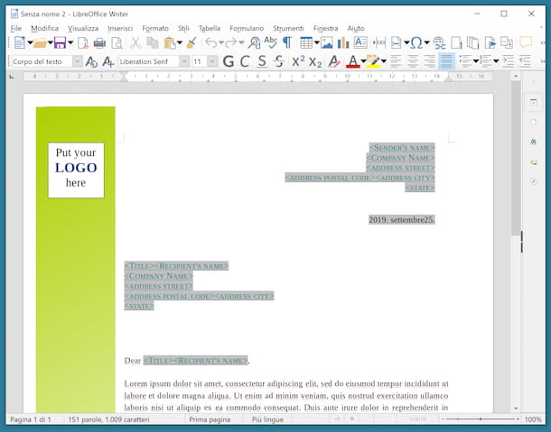 Writer LibreOffice