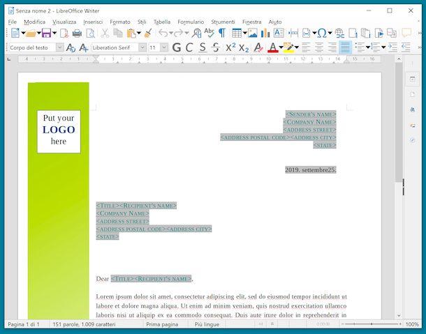 Writer LibreOffice