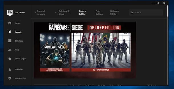Scaricare Rainbow Six Siege da Epic Games