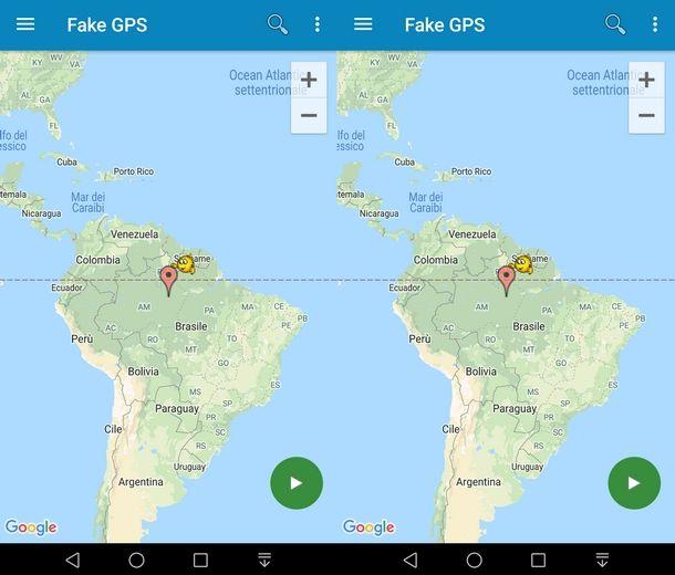 Scegliere posizione su Fake GPS