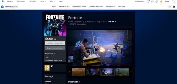 Procedura di download di Fortnite PS4