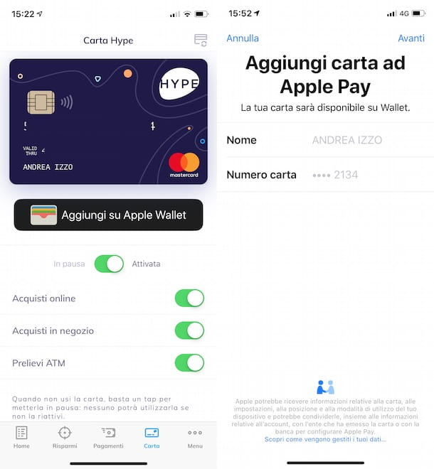 HYPE con Apple Pay
