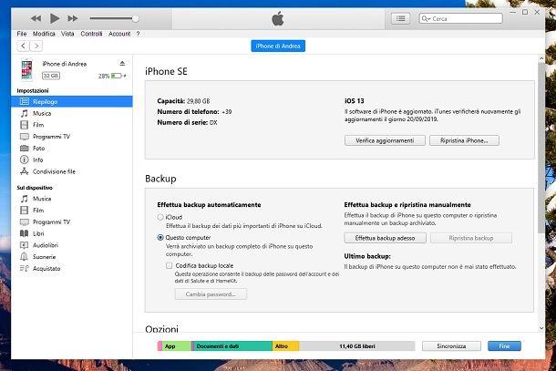 iOS 13 procedura alternativa