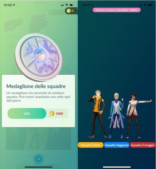 Come cambiare squadra su Pokémon GO