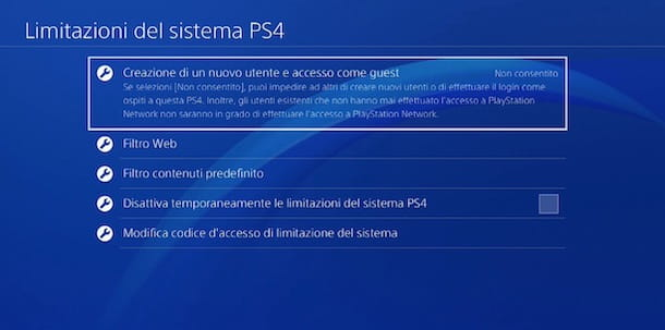 Come cambiare la password del sistema PS4