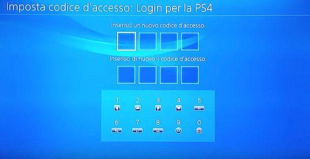 Come cambiare la password del profilo PS4