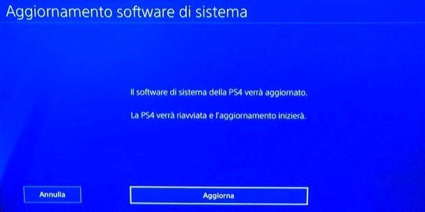 Aggiornare offline la PS4