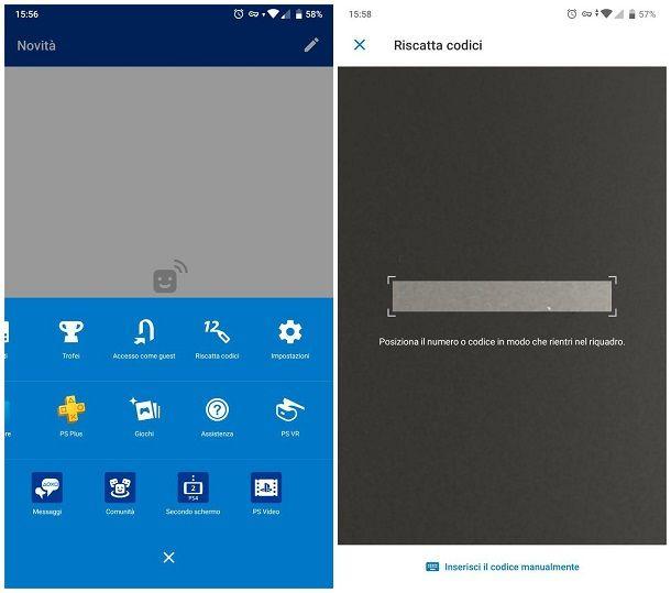 Come riscattare codice PlayStation Plus da smartphone e tablet