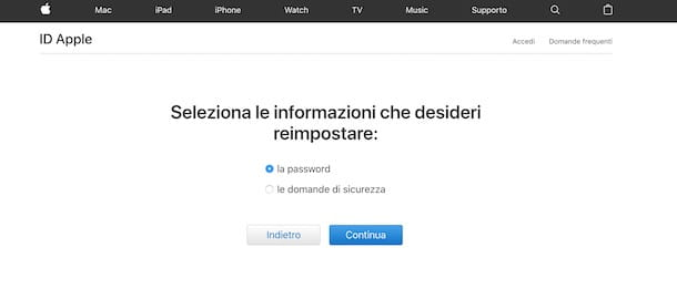 Come eliminare un ID Apple tramite recupero password
