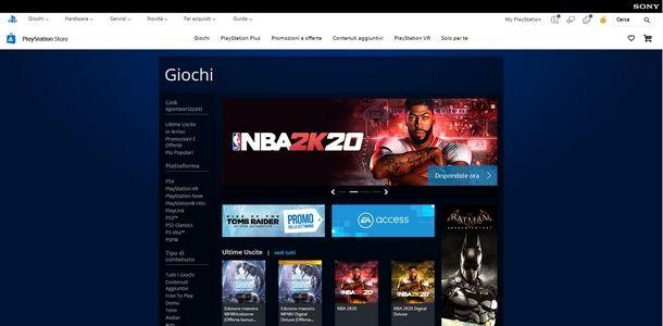 Procedere al rimborso di un gioco per PS4