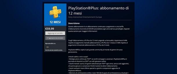 Chiedere il rimborso di un abbonamento su PS4
