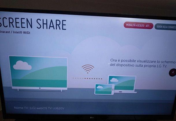 Come trasmettere schermo Android su Smart TV LG