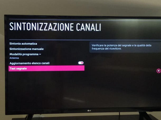 Come verificare se l'antenna TV funziona correttamente