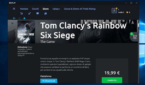 Come scaricare Rainbow Six Siege da Uplay