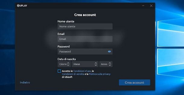 Creare account Uplay