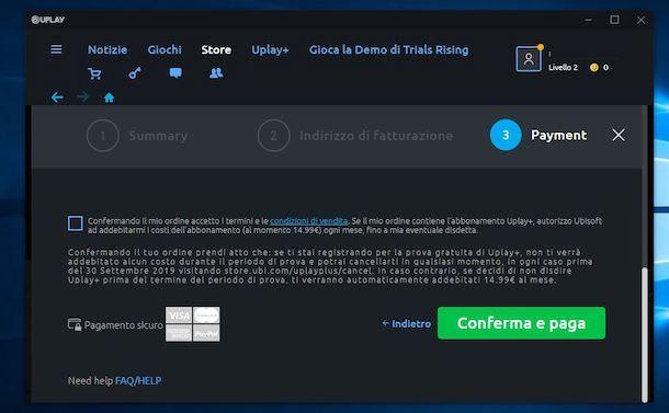 Pagare gioco su Uplay