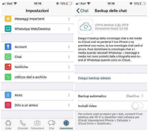 Come vedere i messaggi eliminati su WhatsApp per iOS