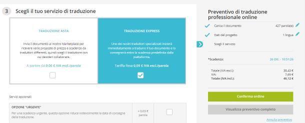 Siti per traduzioni a pagamento