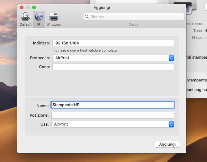Come installare una stampante di rete con indirizzo IP