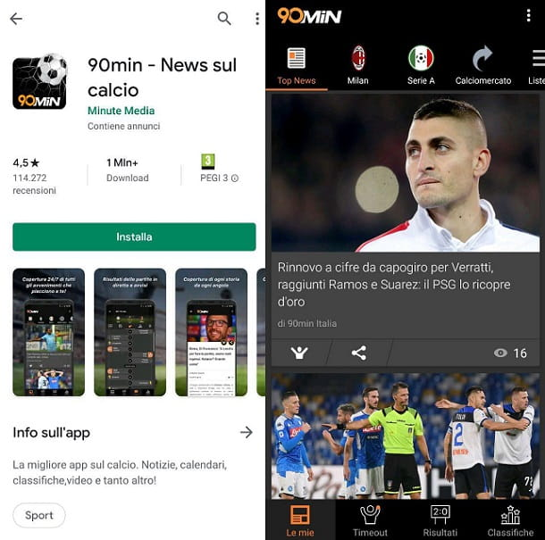 90 minuti News sul calcio