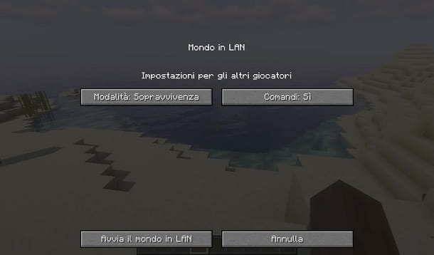 Abilitare i comandi su Minecraft