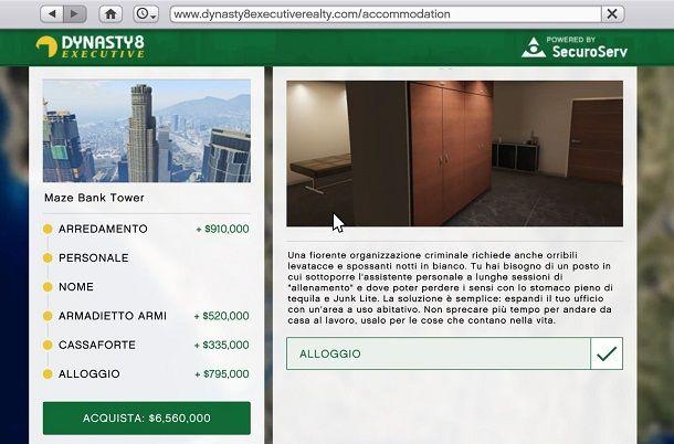 Acquisto dell'ufficio su GTA Online