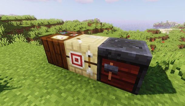 Altri banchi da lavoro su Minecraft