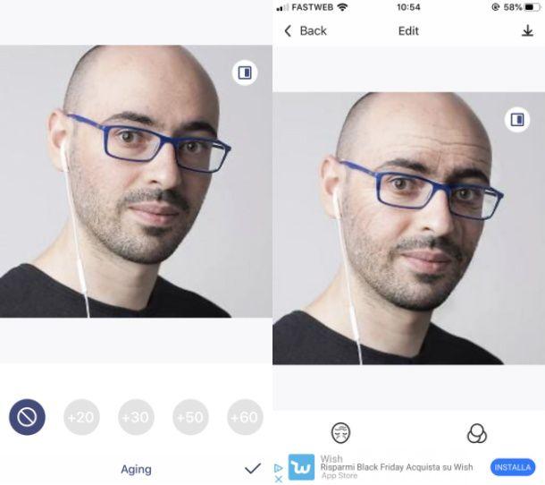 App foto invecchiamento viso