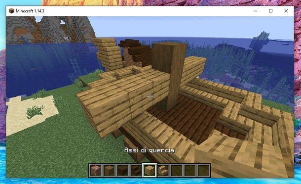 Assi di quercia albero maestro minecraft