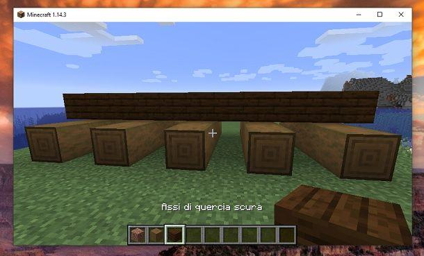 Assi di quercia scura Minecraft