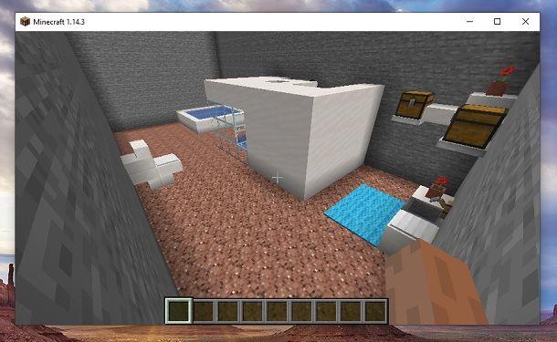 Bagno finito Minecraft